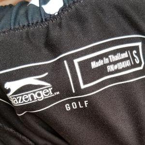 Slazenger Wimens Golf Skort Navy Blue and White Sm